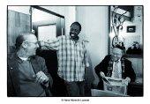 Regisseur Michael Teutsch, Hamis, Ahin (Koch) und ein orthodoxer Mann (16.9 cm x 11.8 cm @300dpi)
