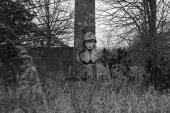 Trauriger Soldat als Sphinx (8.7 cm x 5.8 cm @300dpi)